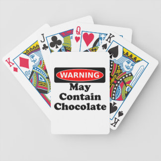 May Contain Chocolate Bicycle Playing Cards