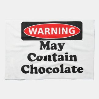May Contain Chocolate Hand Towel