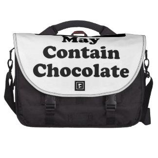 May Contain Chocolate Computer Bag