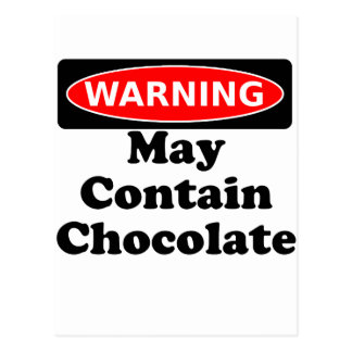 May Contain Chocolate Postcard