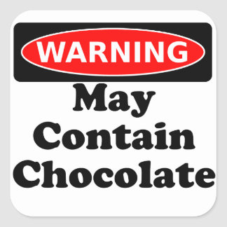 May Contain Chocolate Square Sticker