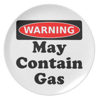 May Contain Gas Dinner Plate