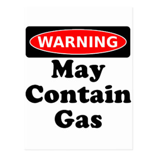 May Contain Gas Postcard