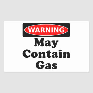 May Contain Gas Rectangular Sticker