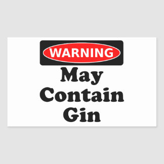 May Contain Gin Rectangle Stickers