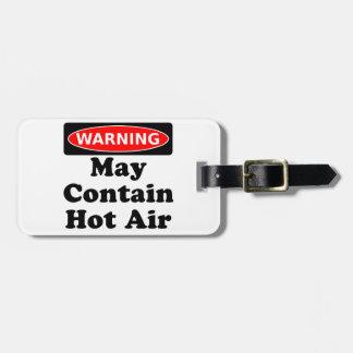 May Contain Hot Air Bag Tag