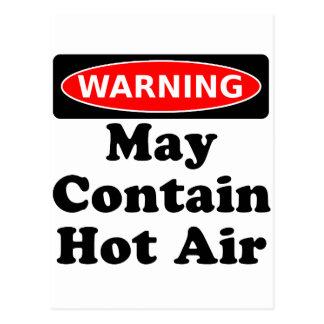 May Contain Hot Air Postcard