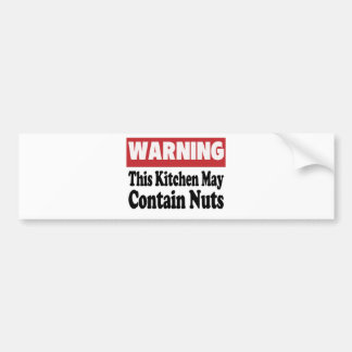 May Contain Nuts Car Bumper Sticker