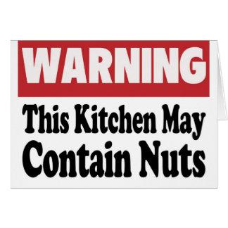 May Contain Nuts Greeting Card