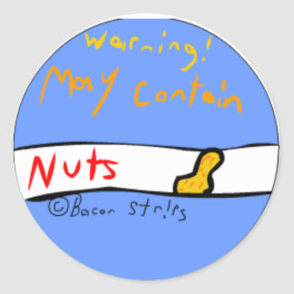 May Contain Nuts Sticker