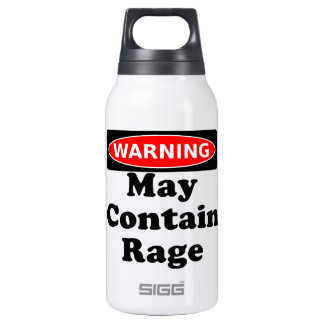 May Contain Rage Thermos Water Bottle