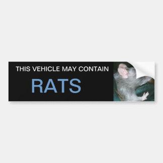 may contain rats bumper sticker car bumper sticker