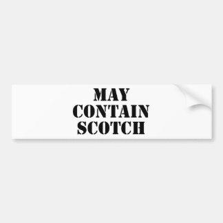 May Contain Scotch Bumper Stickers