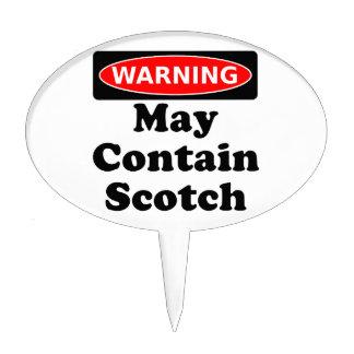 May Contain Scotch Cake Picks