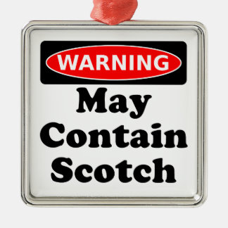 May Contain Scotch Metal Ornament