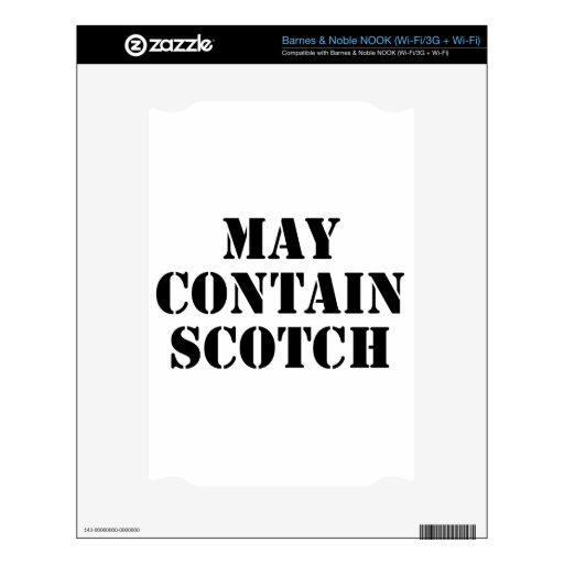 May Contain Scotch NOOK Skin