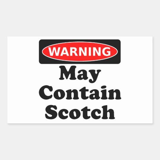 May Contain Scotch Rectangular Sticker