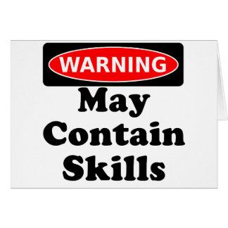May Contain Skills Card