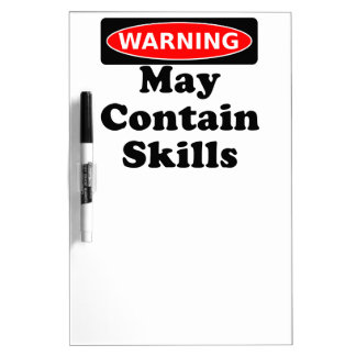 May Contain Skills Dry-Erase Whiteboards