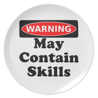May Contain Skills Dinner Plates