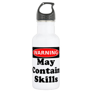 May Contain Skills Water Bottle