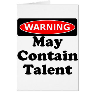 May Contain Talent Card