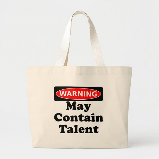 May Contain Talent Jumbo Tote Bag