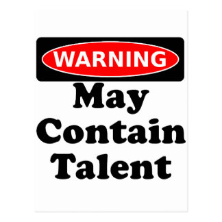May Contain Talent Postcard