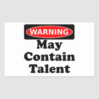 May Contain Talent Rectangular Sticker