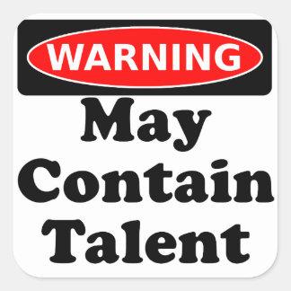 May Contain Talent Square Sticker