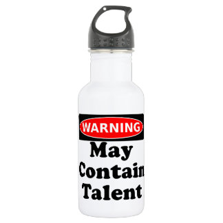 May Contain Talent Stainless Steel Water Bottle