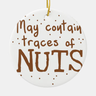 may contain traces of nuts ceramic ornament