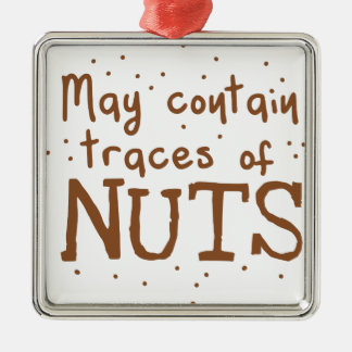 may contain traces of nuts metal ornament