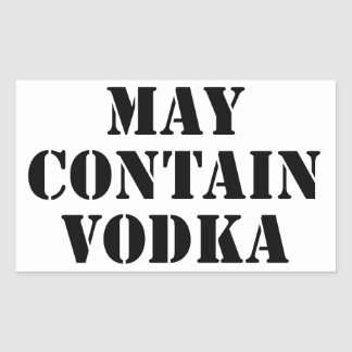 May Contain Vodka Rectangular Sticker