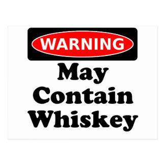 May Contain Whiskey Postcard