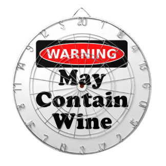 May Contain Wine Dart Board