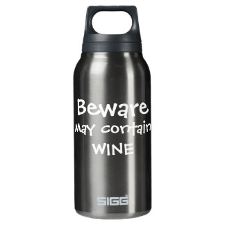 May Contain Wine Insulated Water Bottle