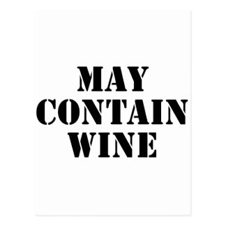 May Contain Wine Postcard