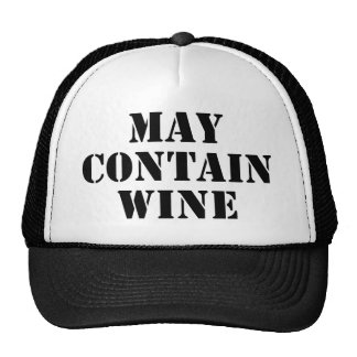 May Contain Wine Trucker Hat