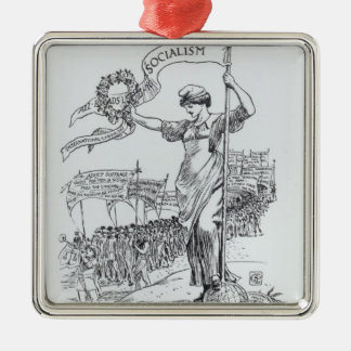 May Day, 1907 Metal Ornament