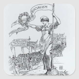 May Day, 1907 Square Sticker