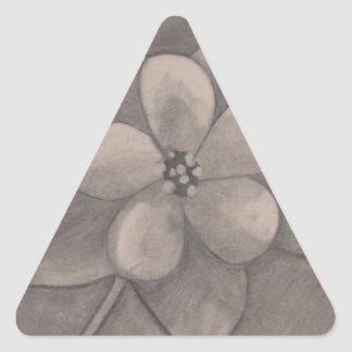 May Day Flower (drawing) Triangle Sticker