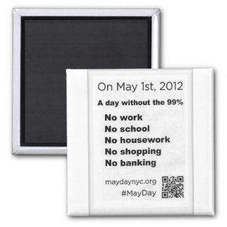 May Day Occupy Wall Stree Flyer Magnet