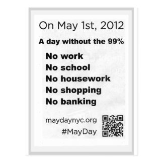 May Day Occupy Wall Stree Flyer Postcard