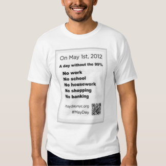 May Day Occupy Wall Stree Flyer Tee Shirt