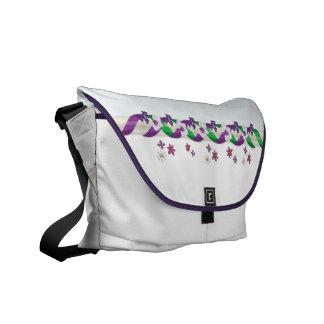 May Day Ribbons & Flowers Rickshaw Messenger Bag