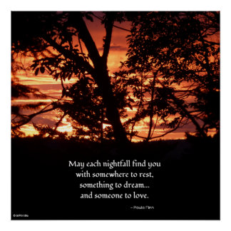 May Each Nightfall Find You...Inspirational poster