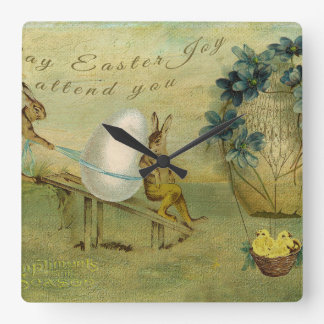 May Easter Joy Attend You Round Wall Clock