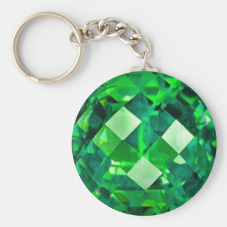 May EMERALD BIRTHSTONE GEM Keychain