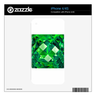 May EMERALD BIRTHSTONE GEM Skins For The iPhone 4